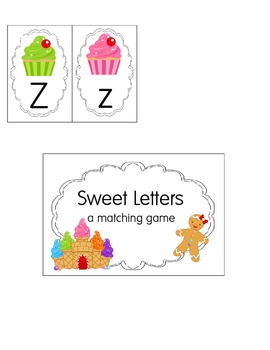 Candy Letter Matching game