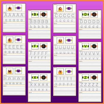 Halloween Candy Letter Sort & Trace