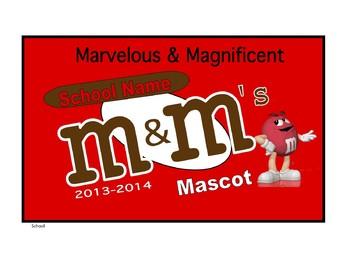 Candy M&M Wrapper Decoration