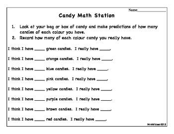 Candy Math Station