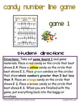 Candy Number Line Game