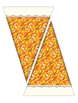 "Candy Pennants – Candy Corn – Jelly Beans – 5"" W x 8"" H – 300 DPI – Vector PDFs"