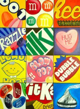 Candy Pop Art and Pop Art History Activities