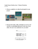 Candy Project (Surface Area / Volume) 7.G.B.6