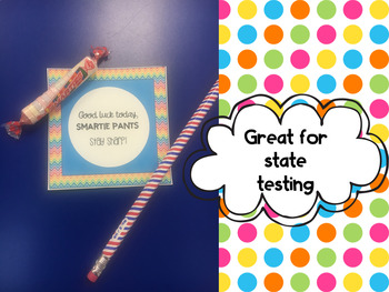 Candy Pun Encouragement Notes ((Great for State Testing))