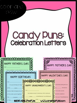 Candy Puns Celebration Letters By Arslifestyle Tpt