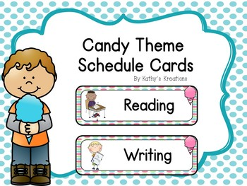 Candy Schedule Cards