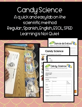 Candy Science Lab Experiment ENGLISH, SPANISH, ESOL, SPED (SCIENTIFIC METHOD)
