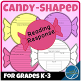 Candy Shaped Reading Response for Any Book Grades K-3