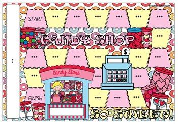 Candy Shop Blank Board Game (EDITABLE)
