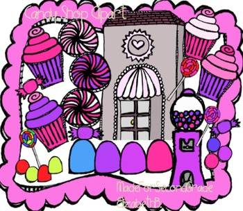 Candy Shop Clipart -MadeforSecondGrade