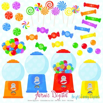 Candy Shop Clipart Scrapbook Commercial Use. Sweets candies graphics