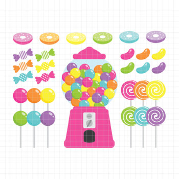 Candy Shop-Digital Clipart (LES.CL05B)