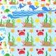 Under the Sea Digital Paper Background Nautical patterns. Sea animals