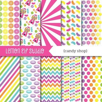 Candy Shop-Digital Paper (LES.DP05B)