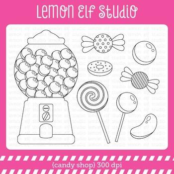 Candy Shop-Digital Stamp (LES.DS05)