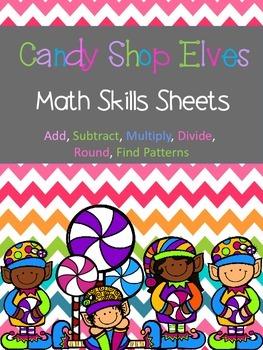 Holiday Math Skills Sheets