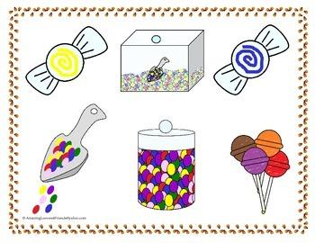 Candy Shop File Folder Game