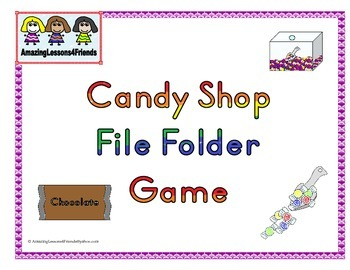 Candy Shop File Folder Game