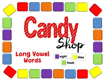 Candy Shop Game Long Vowels