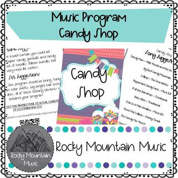 Candy Shop Music Program