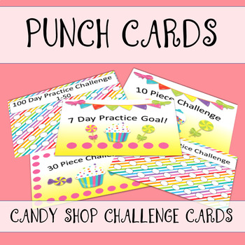 Candy Shop Punch Cards
