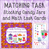 MATCHING TASK Stocking Candy Jars and Math task Cards