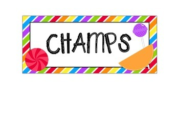 Candy Shop Themed CHAMPS Chart