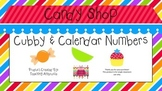 Candy Shop Themed Cubby Numbers and Calendar Set