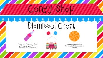 Candy Shop Themed Dismissal Chart