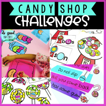 Candy Shop Transformation Stations: Addition, Graphing, Sight Words, Punctuation