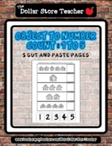 Candy Shoppe Cuties - Count to 5 Cut & Paste Worksheets -