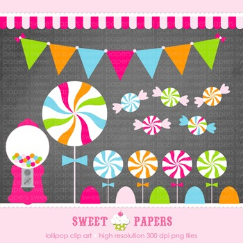 Candy Shoppe Digital Clipart Set - by Sweet Papers