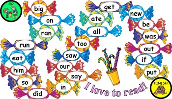 Candy Sight Word Board Games