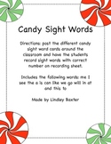 Candy Sight Words