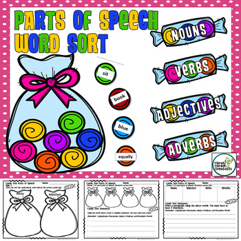 Candy Sort Parts of Speech