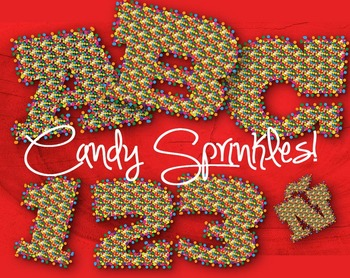 "Candy Sprinkles!  98 pcs - 3.5"" High, Vector PDF and PNGs"