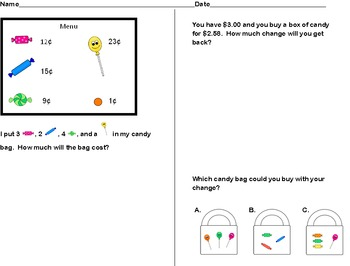 Candy Store Addition and Subtraction