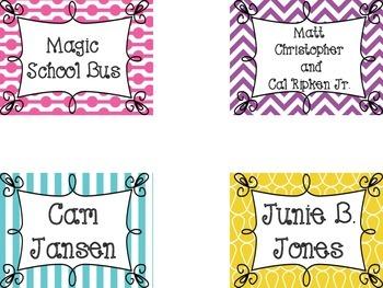 Candy Store Book Bin Labels