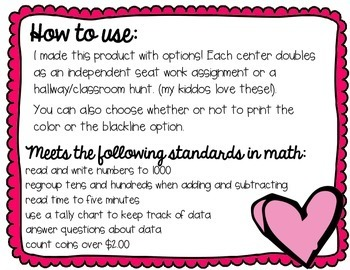 Candy Store Capers! 5 Common Core aligned Valentine Math Centers & Activities