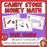 Candy Store Money Math Task Cards: 64 Cards for Working with Coins