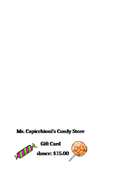 Candy Store Sales Tax and Discount Activity