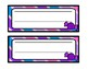 Candy Striped Name Tags and Desk Tags