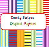 Candy Stripes Digital Paper