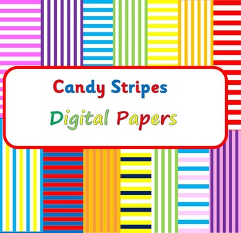Candy Stripes Digital Paper