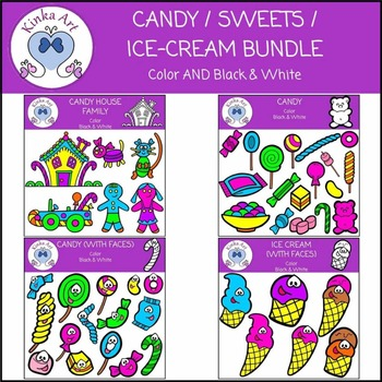 Candy / Sweets / Ice-Cream Clip Art Bundle