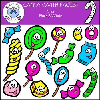 Candy / Sweets / Lollies {With Faces} Clip Art