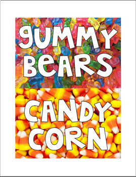 """Candy """"Table Labels"""""""