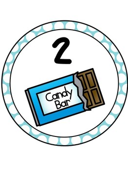 Candy Table Numbers 1-8