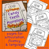 Candy Teeth Monster for articulation language fluency spee